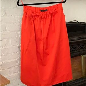 Bright orange Zara Skirt